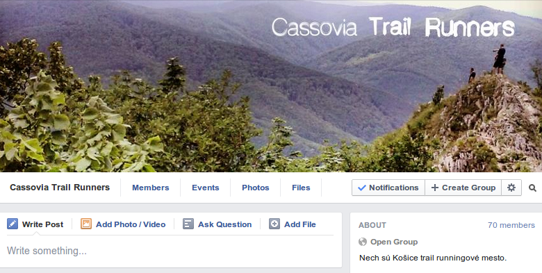 Cassovia Trail Runners na Facebooku