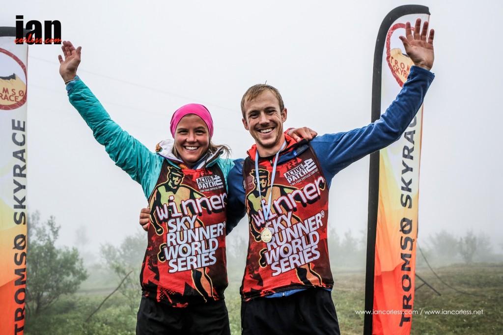 Víťazi Tromso Skyrace 2015: Jonathan a Emelie
